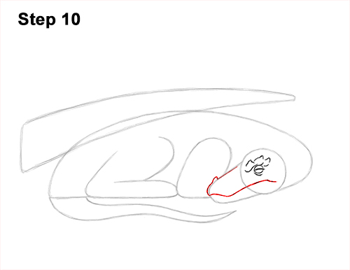 How to Draw a Dragon Sleeping Side 10