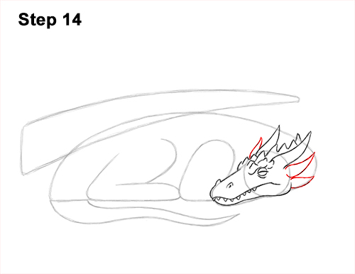 How to Draw a Dragon Sleeping Side 14