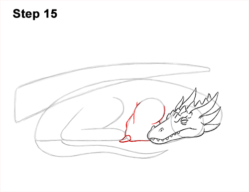How to Draw a Dragon Sleeping Side 15
