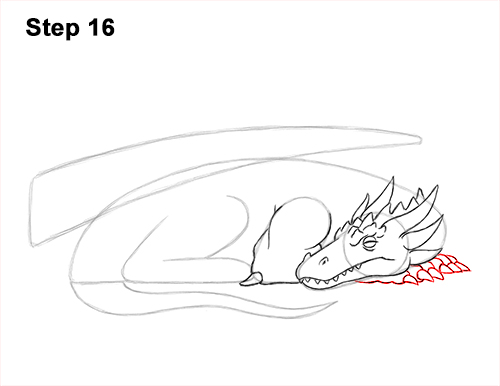 How to Draw a Dragon Sleeping Side 16