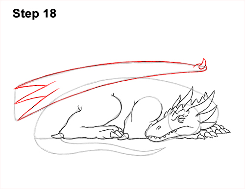 How to Draw a Dragon Sleeping Side 18