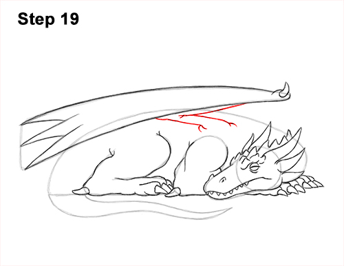 How to Draw a Dragon Sleeping Side 19