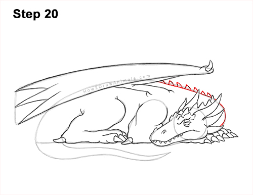 How to Draw a Dragon Sleeping Side 20
