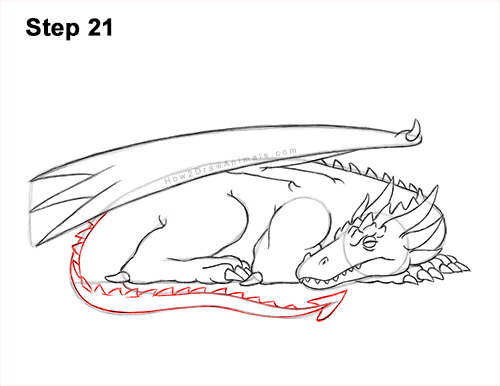 How to Draw a Dragon Sleeping Side 21
