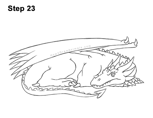 How to Draw a Dragon Sleeping Side 23