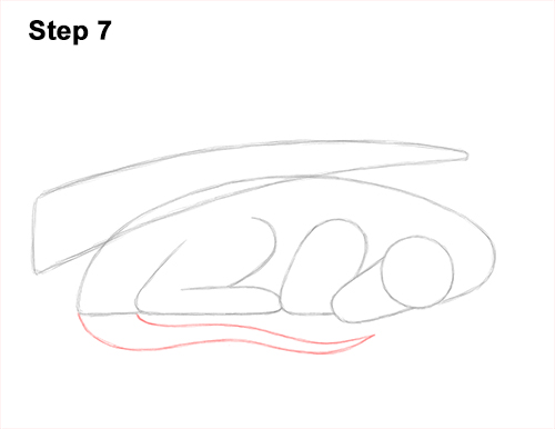 How to Draw a Dragon Sleeping Side 7