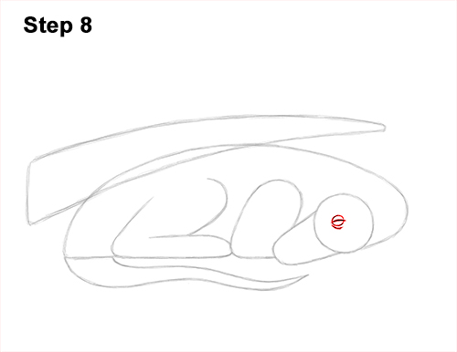 How to Draw a Dragon Sleeping Side 8