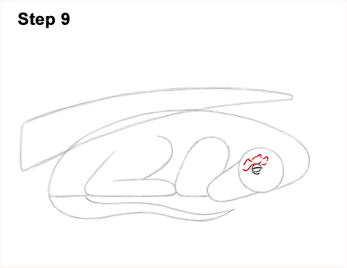 How to Draw a Dragon Sleeping Side 9