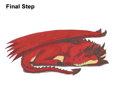 How to Draw a Dragon Sleeping Side