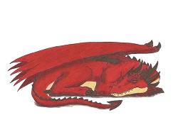 How to Draw a Red Dragon Sleeping