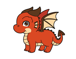 How to draw a Cute Cartoon Baby Dragon Chibi Kawaii