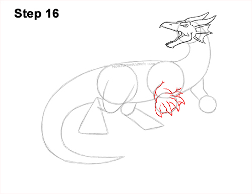 How to Draw Water Dragon Fictional 16