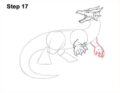 How to Draw Water Dragon Fictional 17