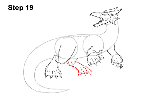 How to Draw Water Dragon Fictional 19