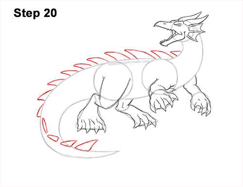 How to Draw Water Dragon Fictional 20