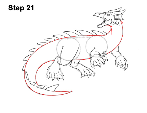 How to Draw Water Dragon Fictional 21