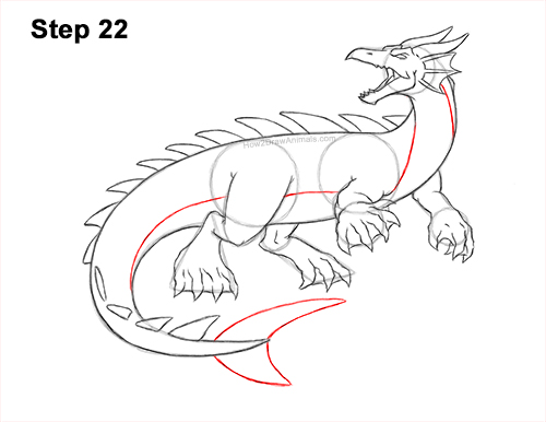 How to Draw Water Dragon Fictional 22
