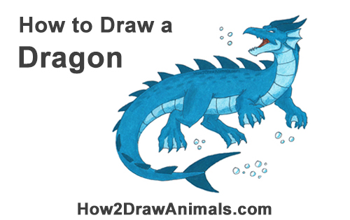 How to Draw Water Dragon Fictional Color