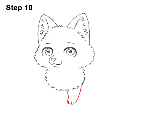 Draw Cute Cartoon Red Fox Chibi Little Mini 10