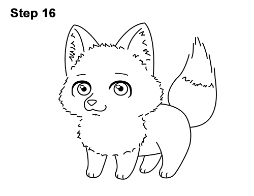 Draw Cute Cartoon Red Fox Chibi Little Mini 16