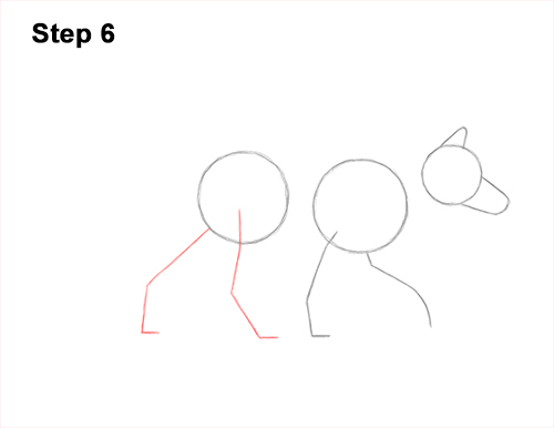 How to Draw a Red Fox Walking Side View 6