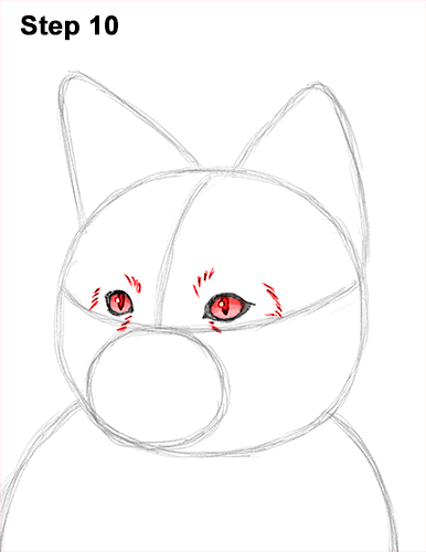 How to Draw a Red Fox Sitting 10