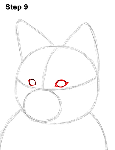 How to Draw a Red Fox Sitting 9