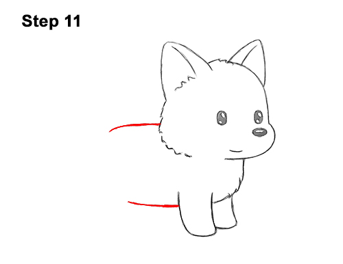 How to Draw Cute Cartoon German Shepherd Puppy Dog 11