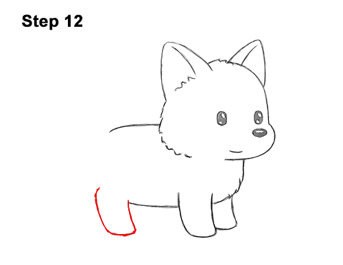 How to Draw Cute Cartoon German Shepherd Puppy Dog 12