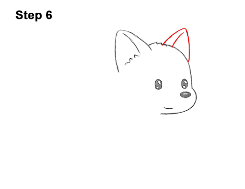How to Draw Cute Cartoon German Shepherd Puppy Dog 6