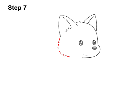 How to Draw Cute Cartoon German Shepherd Puppy Dog 7