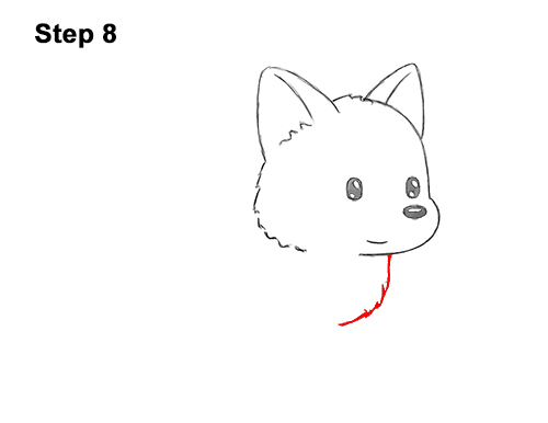 How to Draw Cute Cartoon German Shepherd Puppy Dog 8