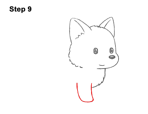 How to Draw Cute Cartoon German Shepherd Puppy Dog 9