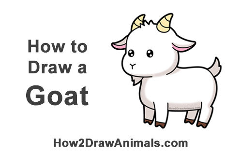 How To Draw A Goat Cartoon Video Step By Step Pictures