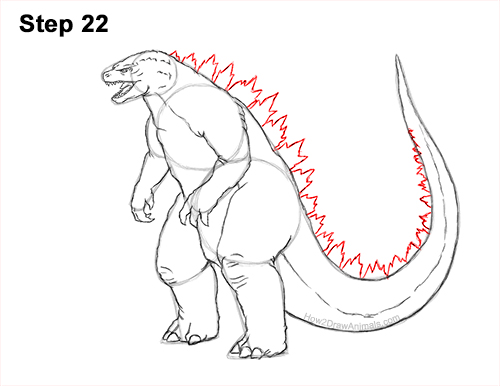 How to Draw Godzilla Monster Side Gojira Kaiju 22