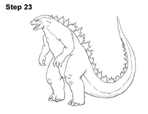 How to Draw Godzilla Monster Side Gojira Kaiju 23