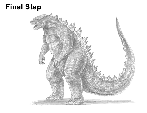How to Draw Godzilla Monster Side Gojira Kaiju