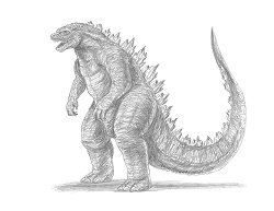 How to Draw a Godzilla Monster Gojira Kaiju