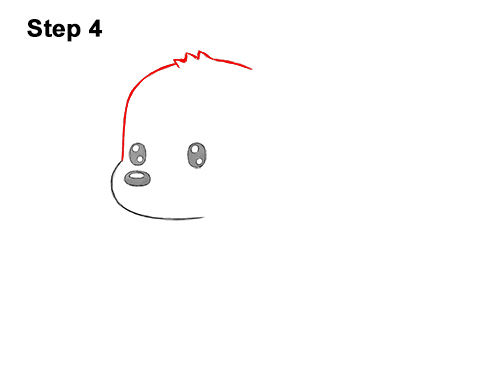 How to Draw a Cute Cartoon Golden Retriever Puppy Dog Chibi Kawaii 4