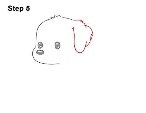 How to Draw a Cute Cartoon Golden Retriever Puppy Dog Chibi Kawaii 5
