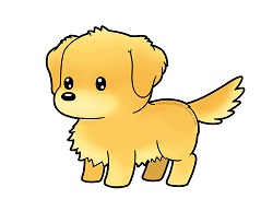 How to draw a cute cartoon Golden Retriever Puppy Dog