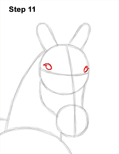 How to Draw Horse Running Front Forward 11