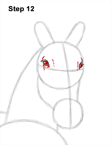 How to Draw Horse Running Front Forward 12
