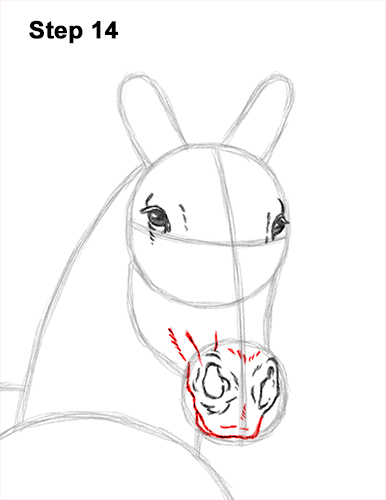 How to Draw Horse Running Front Forward 14