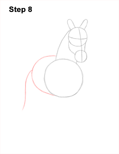 How to Draw Horse Running Front Forward 8