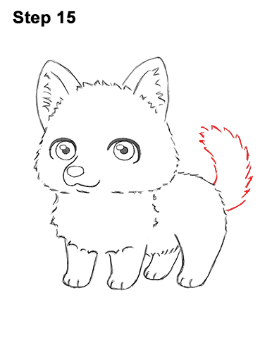 How to Draw a Cute Chibi Little Mini Cartoon Husky Puppy Dog 15