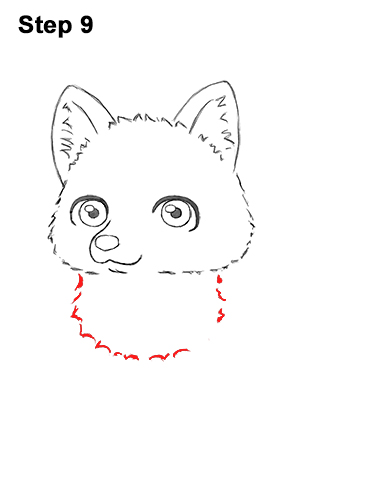 How to Draw a Cute Chibi Little Mini Cartoon Husky Puppy Dog 9