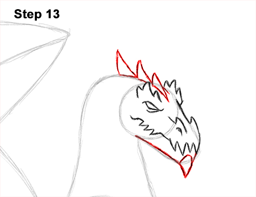 How to Draw a Cold Winter Ice Dragon 13