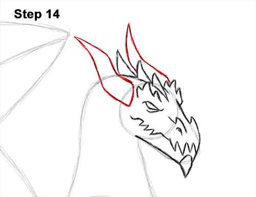 How to Draw a Cold Winter Ice Dragon 14