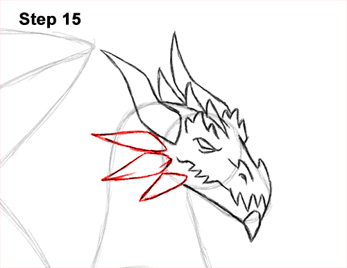 How to Draw a Cold Winter Ice Dragon 15